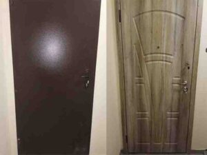 ремонт металлических дверей МДФ накладки