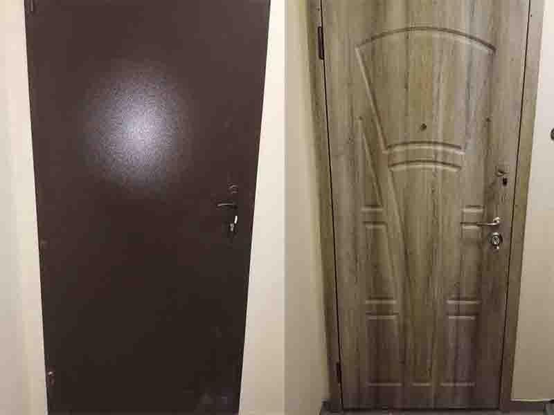 Установка мдф накладки на двери. Киев