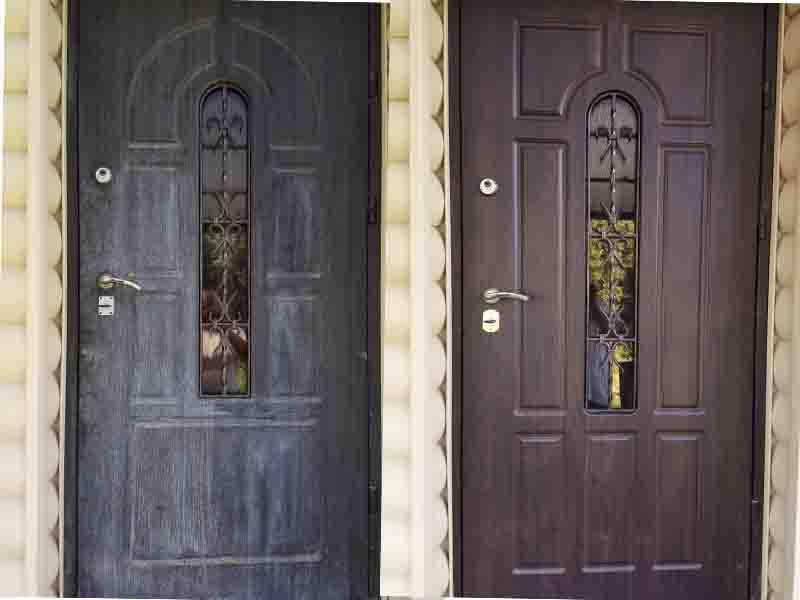МДф накладки на уличные двери. Замена МДФ. Боярка