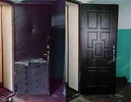 ремонт металлических дверей МДФ напкладки