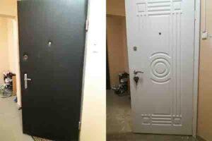 Установка накладок МДф на двери входные