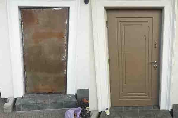 Обшивка дверей МДФ . Гореничи.