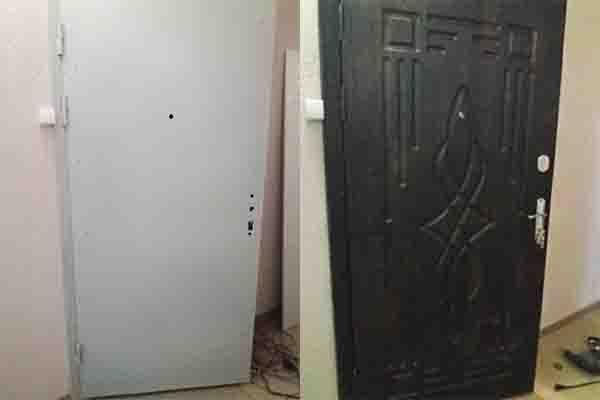Установка МДФ на металлические двери